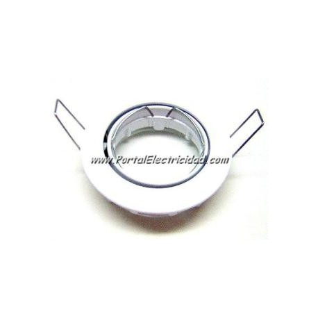 ARO BLANCO ORIENTABLE PARA LAMPARA HALOGENA 50MM