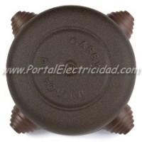 CAJA DE EMPALMES DE METAL ENVEJECIDO PARA CABLE O TUBO. 108MM.