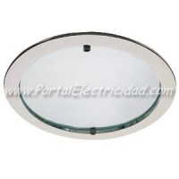 DOWNLIGHT 2X26W SATIN CROMO. LUZ FRIA CRISTAL MATE