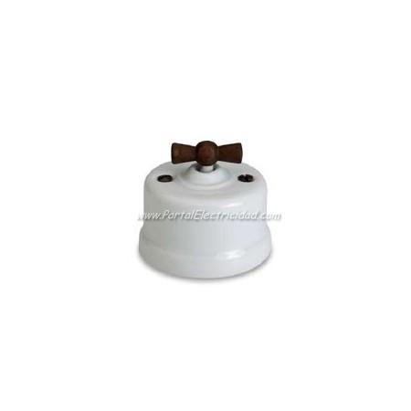 Comprar interruptor de porcelana blanca maneta madera - Interruptores y enchufes baratos ...