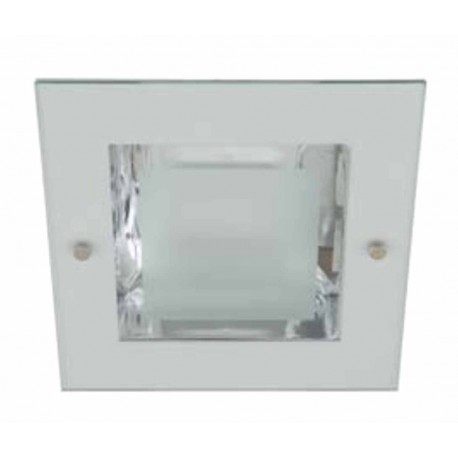 DOWNLIGHT ELECTRONICO CUADRADO 2X26W COLOR TITANIO CRISTAL MATE