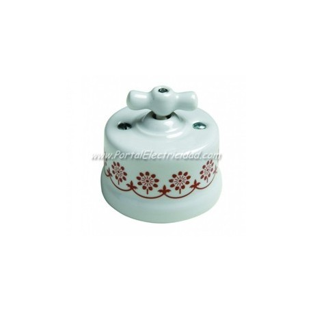 REGULADOR PULSACION 500W CENEFA MARRON, MANETA PORCELANA