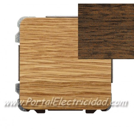 Conmutador simple madera wengue interruptores ede for Madera wengue