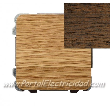 DOBLE INTERRUPTOR SENCILLO, MADERA WENGUE