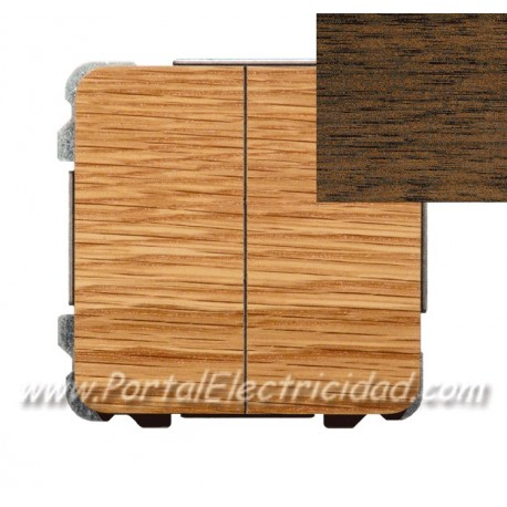 DOBLE INTERRUPTOR CONMUTADO, MADERA WENGUE