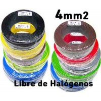 Cable Unipolar 4mm2 LIBRE HALOGENOS H07Z1-K (100 mts) 750V