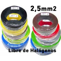 Cable Unipolar 2,5mm2 LIBRE HALOGENOS H07Z1-K (200mts) 750V