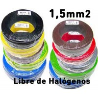 Cable Unipolar 1,5mm2 LIBRE HALOGENOS H07Z1-K (200mts) 750V