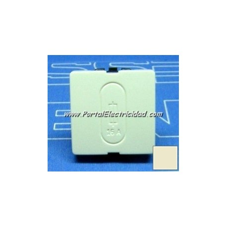 PORTAFUSIBLE 16A 250V BLANCO MARFIL ANCHO. Niessen STYLO