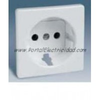 TAPA PARA BASE DE  ENCHUFE II+TTL SCHUKO SERIES SIMON 82. BLANCO