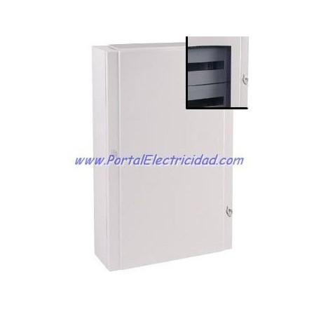 CUADRO ELECTRICO METALICO PARA 120 POLOS. PUERTA TRANSPARENTE