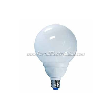 LAMPARA GLOBO BAJO CONSUMO LUZ CALIDA, 24W, E27
