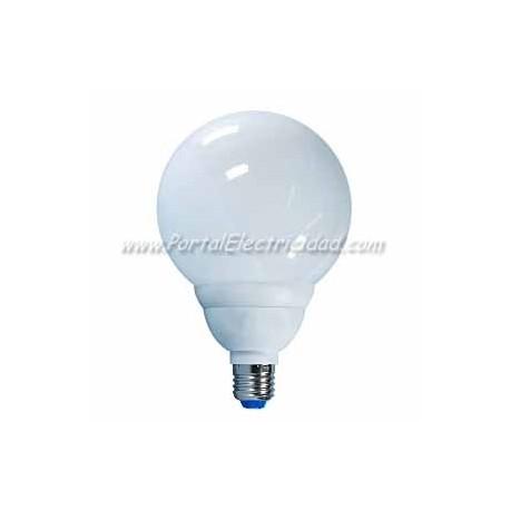 LAMPARA GLOBO BAJO CONSUMO LUZ FRIA, 24W, E27