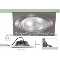 DOWNLIGHT LED 25W CUADRADO NÍQUEL