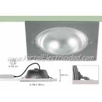 DOWNLIGHT LED 15W CUADRADO NÍQUEL
