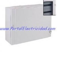 CUADRO ELECTRICO METALICO PARA 72 POLOS. PUERTA TRANSPARENTE