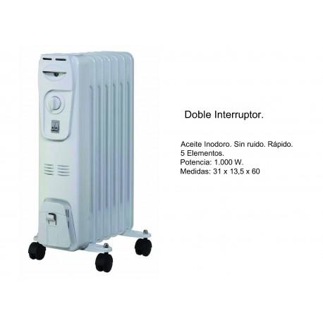 Radiador de Aceite con Doble Interruptor 1000W