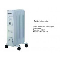 Radiador de Aceite con Doble Interruptor 1500W