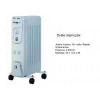 Radiador de Aceite con Doble Interruptor 2000W