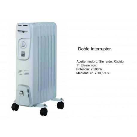 Radiador de Aceite con Doble Interruptor 2500W
