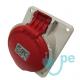 BASE EMPOTRAR INCLINADA TIPO CETACT.3P+N+T 16A 380V ROJA