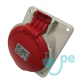 BASE EMPOTRAR INCLINADA TIPO CETACT.3P+N+T 32A 380V ROJA