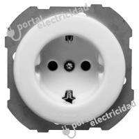 Base de Enchufe con Toma Tierra de Empotrar Blanco Fontini DO