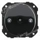 Interruptor-Conmutador de Empotrar Porcelana Negra Fontini DO