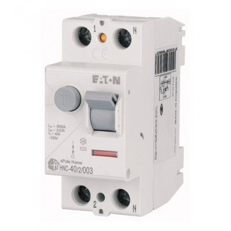 INTERRUPTOR DIFERENCIAL MAGNETOTERMICO 2 POLOS 40A 30MA. EATON MOELLER