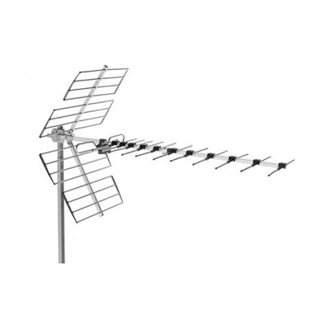 Antena UHF Canales 21/48 G 14 dB Alcad modelo 458