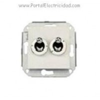 DOBLE INTERRUPTOR CONMUTADOR ROCKING. CROMO/METALIZADO