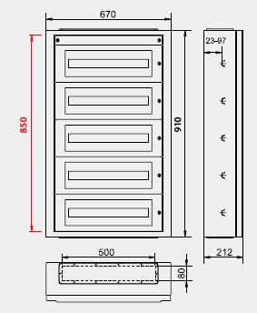 Medidas cuadro electrico materiales de construcci n para for Cuadros a medida